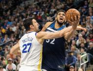 NBA: Timberwolves deal Warriors second straight defeat