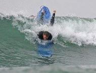 That's perfect! US rookie surfer's rare triple barrel