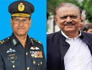 Outgoing Air Chief pays farewell call on President Mamnoon