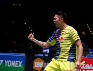 Lin, Lee win openers at All England badminton