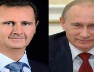 Syria's Assad congratulates Putin on 'natural' victory