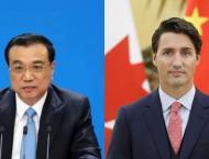 Li Keqiang ,  Justin Trudeau  congratulate on opening of China-Ca ..