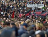 Heavy disruption as French unions strike against Macron
