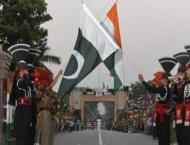 Flag lowering ceremony at Wagah border Lahore