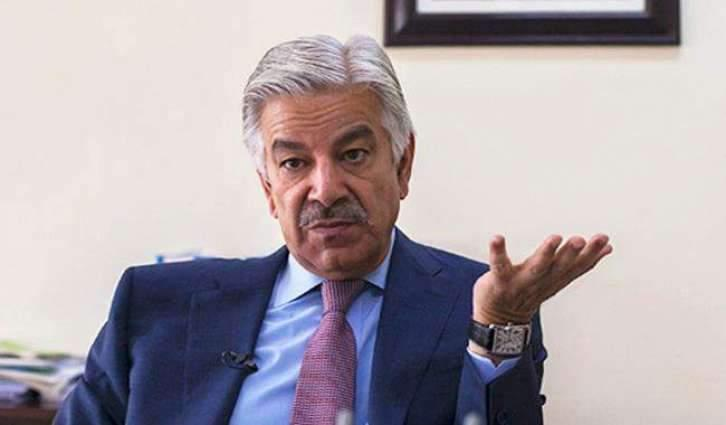 Ink thrown at Pakistan FM Khawaja Asif during PML(N) workers convention