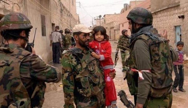 シリア軍はGhoutaの住民に「回廊」を介して逃げるよう呼びかけている