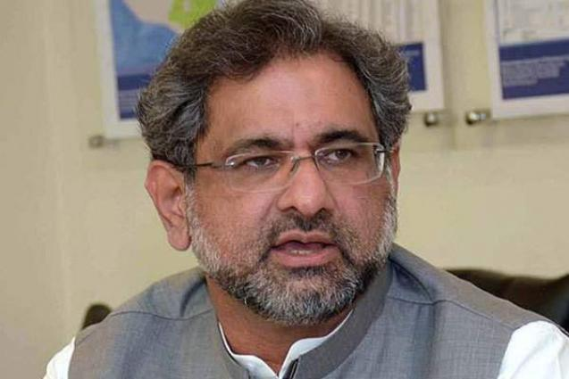 Prime Minister Shahid Khaqan Abbasi stresses need for promoting education with basic moral values