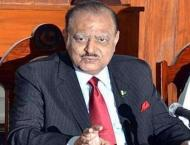 President Mamnoon Hussain desires to see Balochistan more develop ..