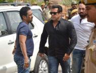 Bollywood star Salman Khan leaves jail after bail granted