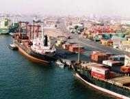 Shipping activity at Port Qasim 11 April 2018