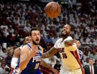Miami Heat put on ice as 76ers advance