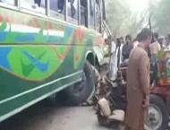 Six people killed in Layyah bus collision