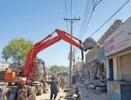 Several structures removed in anti-encroachment drive