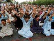 Disable persons stage protest demonstration against non implement ..