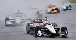 Newgarden wins rain-delayed Alabama IndyCar