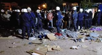 Far-right group attacks migrants on Greek island