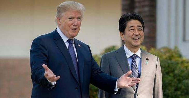 Trump hosts Abe with North Korea, trade topping agenda