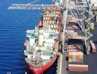 Shipping activity at Port Qasim 09 May 2018