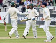 Cricket: Ireland v Pakistan Test scoreboard