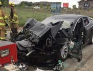 Tesla chief defends self-driving cars after new crash