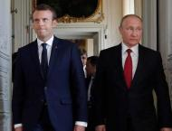 French President Emmanuel  Macron in Russia for high-stakes talks ..