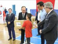 Turkish agency delivers food aid to Albanian orphans