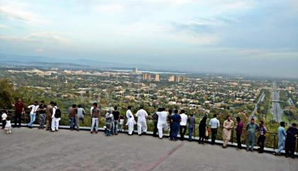 Scenic panoramic view of Islamabad from Daman-e Koh attracts visitors