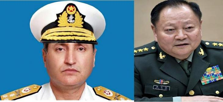 General Zhang Youxia calls on Admiral Zafar Mahmood Abbasi