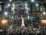 Crowds gather for Hong Kong Tiananmen vigil
