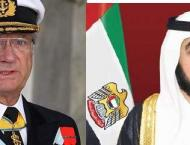 UAE leaders congratulate King of Sweden on National Day