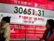 Hong Kong stocks end lower 14 June 2018