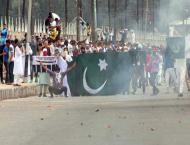Anti India demonstrations in Indian Occupied Kashmir after Eid pr ..