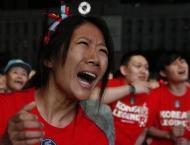 Crestfallen S. Korea fans fall silent on World Cup defeat