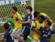 Colombia v Japan World Cup starting line-ups
