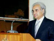 Prime Minister Nasir ul Mulk offers Fateha at Mazar e Quaid