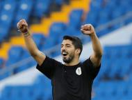 Suarez wins 100th Uruguay cap, Saudi Arabia drop goalkeeper