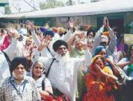 284 Indian Sikh yatrees arrive in city in Lahore