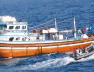 Pakistan Navy provided assistance to Iranian dhow