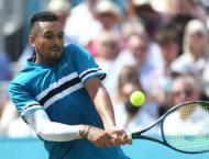 Kyrgios blasts 32 aces to down Edmund at Queen's