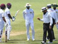 Windies 46-4 at lunch on day one of day-night Test