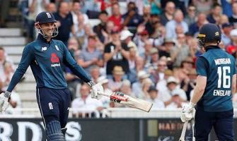 England post new ODI record total