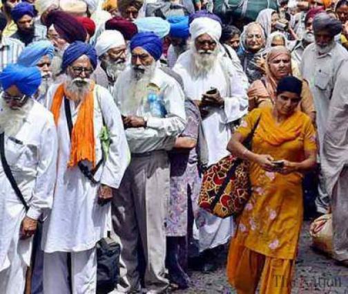 Sikh yatrees visit Gurdwara Rohri Sahib Kirtarpur