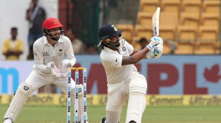 Cricket: India v Afghanistan Test scoreboard