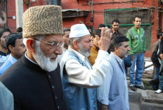 Image result for Hurriyat Leaders Visit Mukhtar Sofi, Martyrs' Families