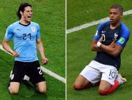 France v Uruguay World Cup starting line-ups