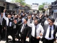 Bar Clubs of Hazara division protest against Mastung, Bannu bomb  ..