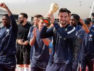 World Cup-winning French team arrive home