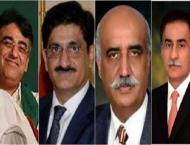 Political leaders cast their votes as polling commences