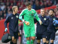 Burnley goalkeeper Pope suffers shoulder injury