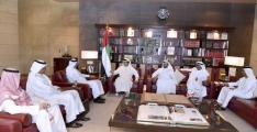 منصور بن زايد يستقبل رئيس مجلس أمناء مركز البحرين للدراسات ..